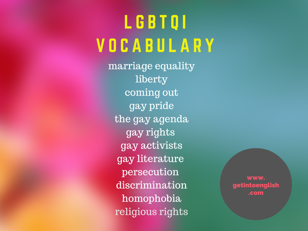 LGBTQI Vocabulary