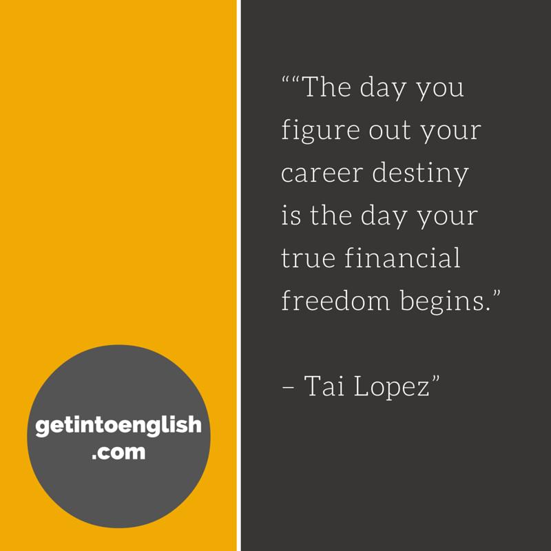 Tai Lopez career tip