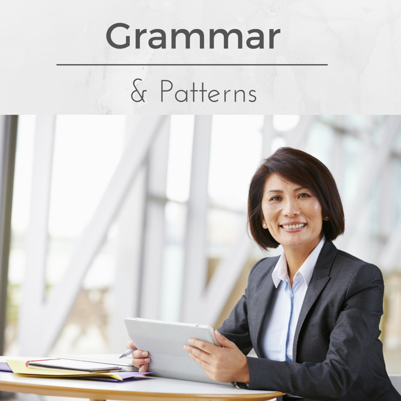 Grammar and patterns