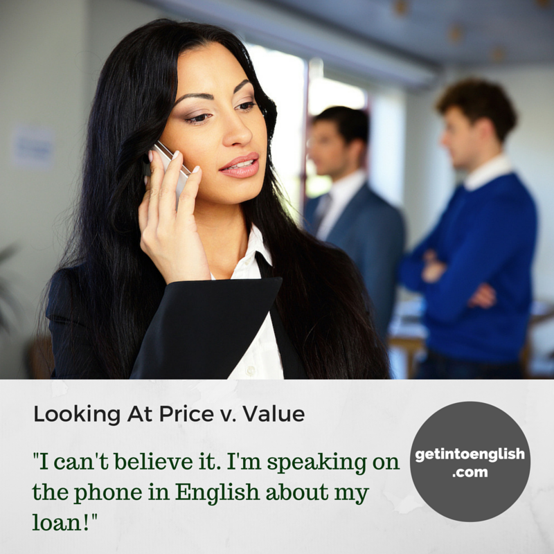 Price or Value of English lesson